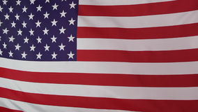 Textile United States flag stock video