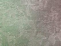 Textile - vert et tissu en soie coloré par magenta Photos stock