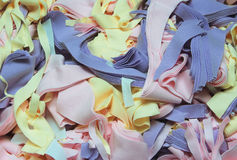 Textile waste. It is fabric wastage at a clothing factory Royalty Free Stock Images