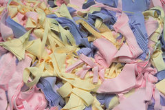 Textile waste. It is fabric wastage at a clothing factory royalty free stock image