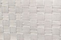 White weaving pattern background fabric texture. Textile with a weaving pattern in a bone color as a background fabric texture Stock Photos