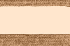 Textile weft, fabric decoration, beige canvas, styled material, textured background Royalty Free Stock Photography