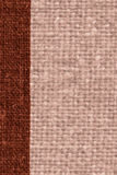 Textile weft, fabric patch, rust canvas, sackcloth material, natural background Royalty Free Stock Photo