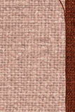 Textile weft, fabric space, rust canvas, jutesack material, flat background Stock Photography