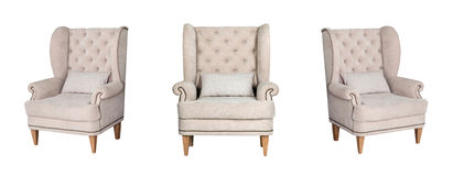 Textile white chair Royalty Free Stock Photos