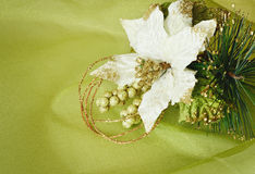 Textile white poinsettia Stock Photos