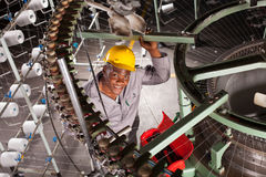 Textile worker Stock Photo