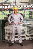Textile worker full length Royalty Free Stock Image