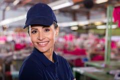 Textile worker portrait Stock Photos