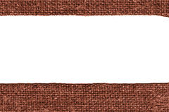 Textile yarn, fabric decoration, khaki canvas, parchment material, simplicity background Royalty Free Stock Images