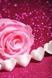 Textilehearts z wzrastał Obrazy Royalty Free