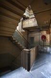 Textilen maler trappuppgången Fotografering för Bildbyråer
