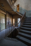 Textilen maler trappuppgången Royaltyfri Bild
