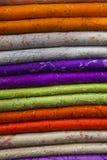 Textilen och texturerar Arkivbild