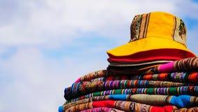 Textiler av Sydamerika arkivbilder