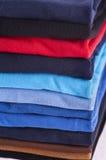 Textiles. Polo shirts various colors as close up Royalty Free Stock Photo