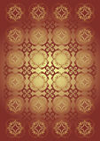 Textiles. Drawing for an ornament damask fabrics Royalty Free Stock Photo
