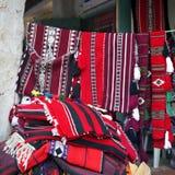 Textiles arabes en vente Photographie stock libre de droits