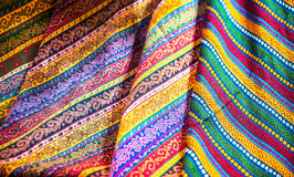 Textiles and Clothing at the bazaar Royalty Free Stock Image