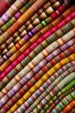 Textiles colorés Images libres de droits