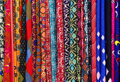 Textiles colorful for sale in a market of Kuala Lumpur Royalty Free Stock Photography