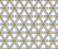 Textiles and hexagonal paper doodle pattern royalty free stock photos