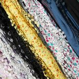 Textiles at market Stock Images