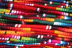Textiles on Market in San Cristobal de las Casas Royalty Free Stock Image