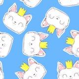 Textiles mignons de Cat Pattern Seamless Graphic Design illustration de vecteur