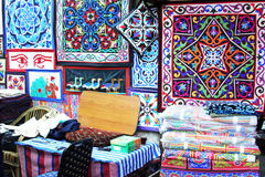 Textiles in cairo in egypt in africa Royalty Free Stock Photography