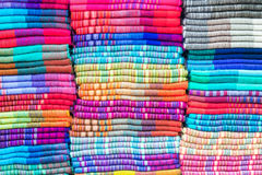 Textiles in Otavalo, Ecuador Stock Photo