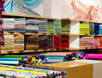 Textiles for sale Stock Photography