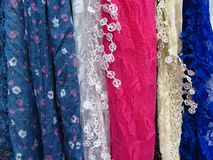 Textiles for Sale in Rome Stock Image