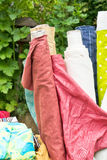 Textiles sale Royalty Free Stock Image