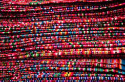 Textiles Texture on a market in Peru Royalty Free Stock Images