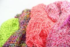 Textiles tissés sur le fond blanc Photographie stock