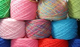 Textiles tissés sur le fond blanc Photo libre de droits