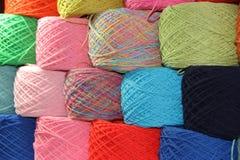 Textiles tissés sur le fond blanc Images stock