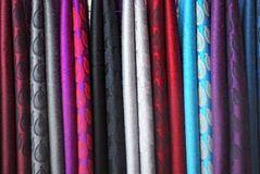 Textiles vibrants Photo stock