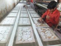 Textilfabrik i Indien Royaltyfri Bild