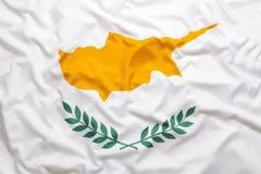 Textilflagga av Cypern Royaltyfri Fotografi