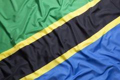 Textilflagga av Tanzania Arkivfoton