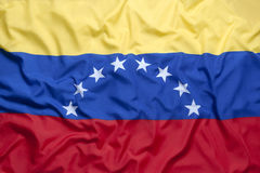 Textilflagga av Venezuela Fotografering för Bildbyråer
