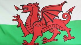 Textilflagga av Wales royaltyfri illustrationer