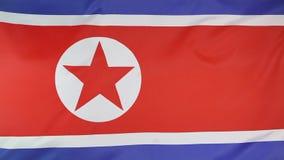 Textilflagge von Nordkorea stock abbildung