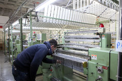 Textilgewebe Ä°n die Türkei Stockfoto