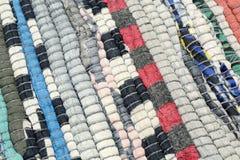 Textilhintergrund des gestrickten Teppichs Stockfoto
