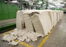 Textilindustrie - kardierende Abteilung Lizenzfreie Stockbilder