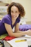 textilkvinna Arkivbilder