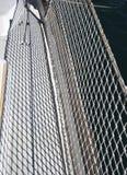 Textilmaschengrenze auf dem Segelboot Lizenzfreie Stockfotos